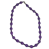 Disney EPCOT Recycled Paper Choker Necklace - Purple Beads