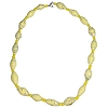 Disney EPCOT Recycled Paper Choker Necklace - Yellow Beads