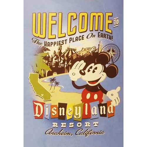 Disney Throw Blanket - Welcome to Disneyland with Mickey Mouse