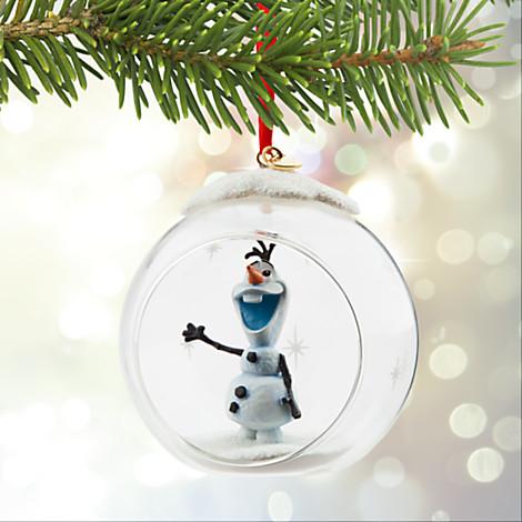 Disney Christmas Figurine Ornament - Olaf Globe