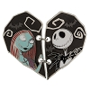 Disney Couples Pin - Heart Shaped Jack and Sally