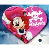 Disney Engraved ID Tag - Minnie Mouse Heart - Pirate Red Head