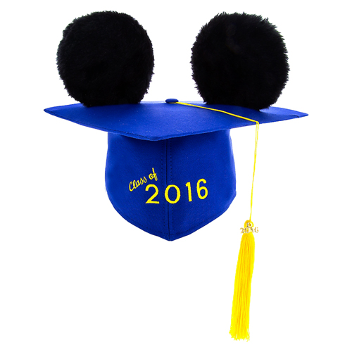 Disney Hat - Ears Graduation Cap - Class of 2016 - Mortarboard