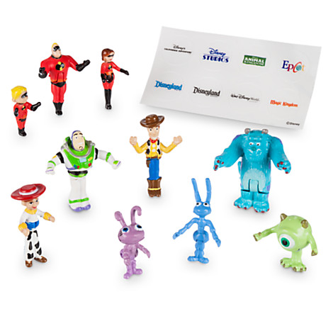 Disney Figurine Set - Monorail Play Set - Pixar Characters