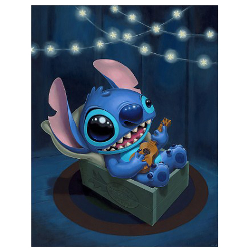 Disney Postcard - Stitch Serenade by Tercek