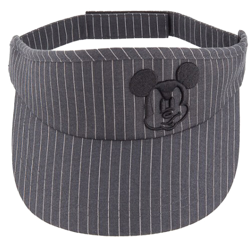 010d3c4be Disney Sun Visor Hat - Pinstripe Mickey Mouse