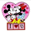 Disney Mickey and Minnie Pin - I Love U Love Me