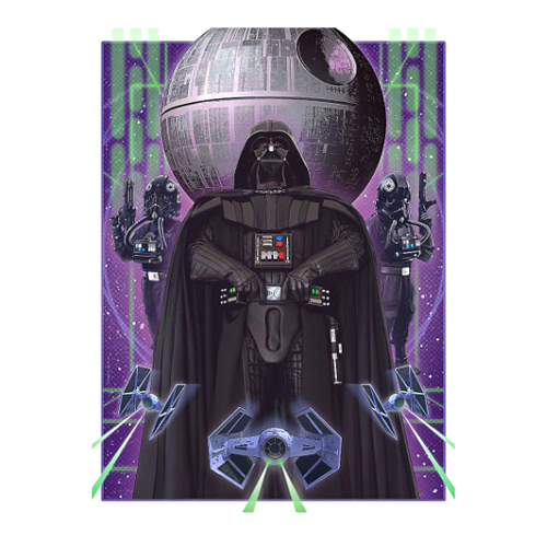 Disney Artist Print - Defender of the Death Star by Joe Corroney