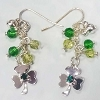 Disney Earrings - Mickey Icon and Gem Stud Shamrocks