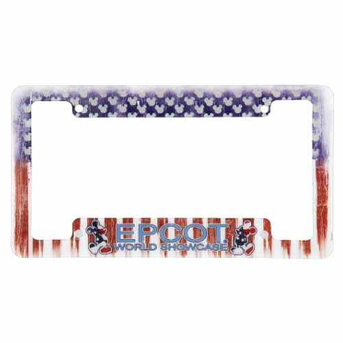 Your WDW Store - Disney License Plate Frame - EPCOT Americana Mickey