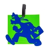 Disney Luggage Tag - Square Goofy Running