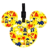 Disney Luggage Tag - Vacation Icons and Characters - Yellow