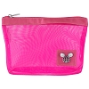 Disney Mesh Cosmetic Bag - Travel and Gear - Pink with Mickey Icon