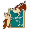 Disney Teacher's Day Pin - 2016 National Teacher Day - Chip n Dale
