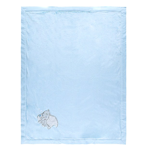 15b5bd8eb Disney Baby Blanket - Blue Dumbo Layette Blanket