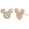 Disney Earrings - Mickey Icon Studs by Crislu - Rose Gold