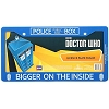 Doctor Who License Plate Frame - BIGGER ON THE INSIDE