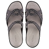 Disney Womens Crocs Shoes - Mickey Mouse Silver Icons on Black