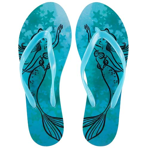 1dccf753cc0 Disney Ladies Sandals - Ariel Watercolor Starfish Flip Flops