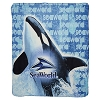 SeaWorld Throw Blanket - Fleece Whale Banner