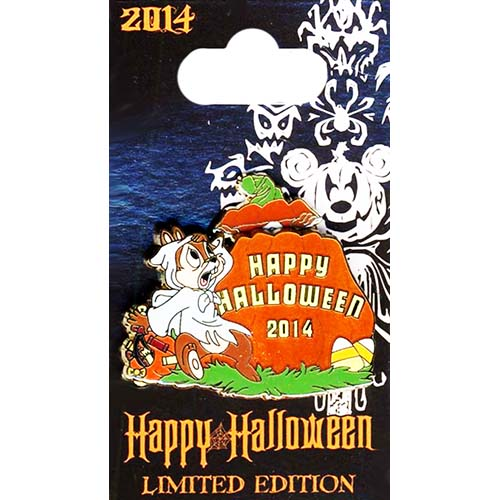 Disney Pin - Happy Halloween 2014 - Chip and Dale