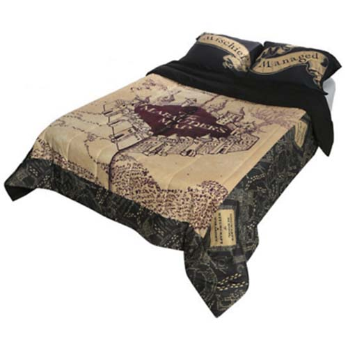 Harry Potter Marauders Map Blanket Universal Full / Queen Comforter Blanket   Harry Potter Marauder's