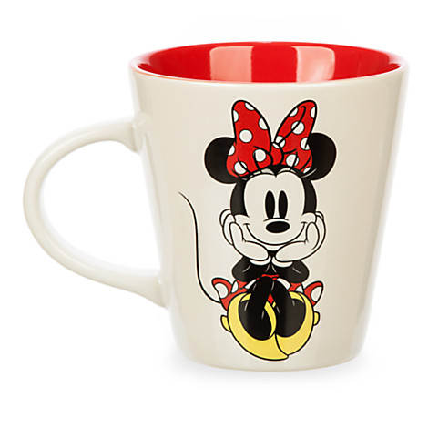 your wdw store disney coffee cup mug minnie mouse signature bow. Black Bedroom Furniture Sets. Home Design Ideas
