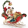Disney Dept. 56 - Christmas Sleigh Bells - Mickey & Minnie Mouse