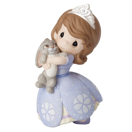 Disney Precious Moments Figurine - Girl Sofia The First with Bunny