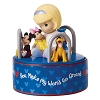 Disney Precious Moments Figurine - Girl with Mickey and Friends Rotating Musical