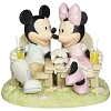 Disney Precious Moments Figurine - Mickey and Minnie in Adirondack Chairs