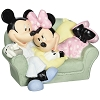 Disney Precious Moments Figurine - Mickey and Minnie on Couch