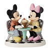 Disney Precious Moments Figurine - Mickey and Minnie Sharing Ice Cream Float