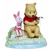 Disney Precious Moments Figurine - Pooh and Piglet Fishing