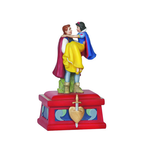Disney Precious Moments Figurine - Prince Charming and Snow White Musical