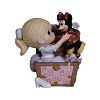 Disney Precious Moments Figurine - Girl in Toy Chest Holding Minnie