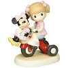 Disney Precious Moments Figurine - Girl with Minnie on Tricycle