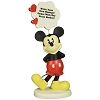 Disney Precious Moments Figurine - Mickey Thought Bubble with Pen