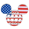 Disney Mickey Icon Pin -  Walt Disney World Mickey Icon U.S.A. Flag