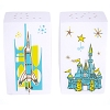 Disney Salt & Pepper Shaker Set - Retro Magic Kingdom Map Icons