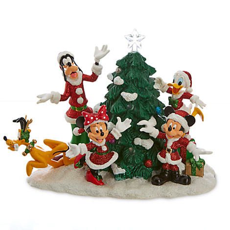 Disney Figure Santa Mickey And Friends Light Up Tree Figure