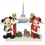 Disney Ornament - Santa Mickey & Minnie Walt Disney World Gate