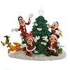 Disney Figurine - Santa Mickey and Friends Light-Up Tree Figure