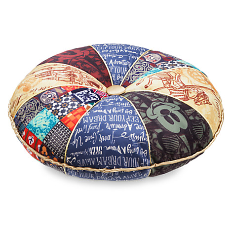 New Disney Parks Mickey Believe in Magic Vintage Round Pillow Cushion