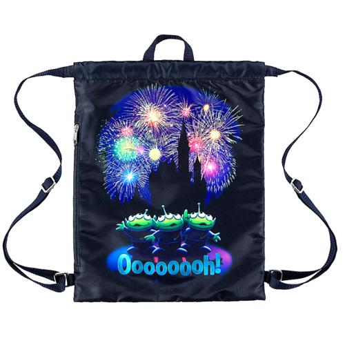 Disney Drawstring Cinch Bag Toy Story Aliens Castle Oooooooh