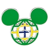 Disney Mickey Icon Pin - Global Ears Icon - Brazil Flag