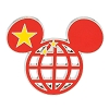 Disney Mickey Icon Pin - Global Ears Icon - China Flag