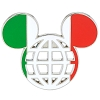 Disney Mickey Icon Pin - Global Ears Icon - Italy Flag