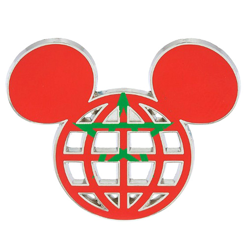 Disney Mickey Icon Pin - Global Ears Icon - Morocco Flag