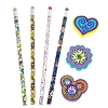 Disney Pencils & Erasers Set- Mickey Mouse Paisely